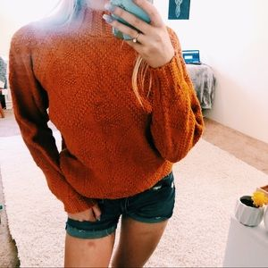 Vintage Rust Orange Knit Sweater